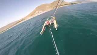 Kite catamaran!Armenia Lake. Sevan!