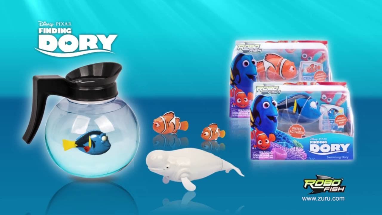 Dory Vis Finding Dory Robofish Water Activated Robotic Fish