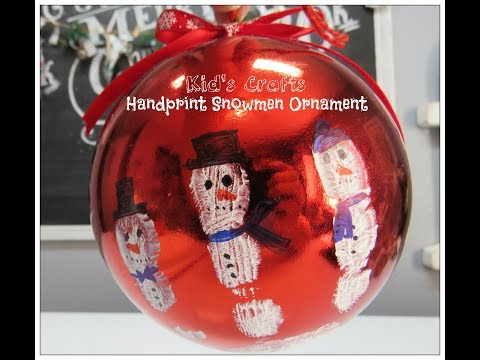 Steps to make an infant Handprint Christmas Ornament