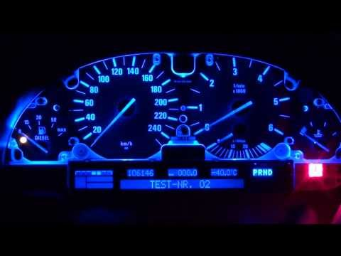 BMW E39 speedo LCD display fixed, blue led converted, silver ribbon cable built in