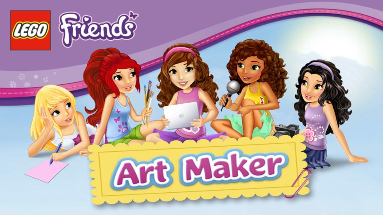 Lego Friends Art Maker For Girls Youtube