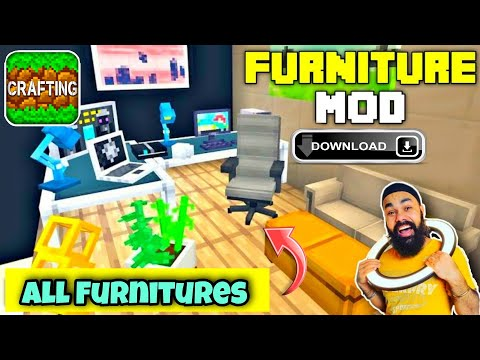 How To Get Furniture Mod In Crafting And Building | Best Furniture Mod For Crafting And Building
