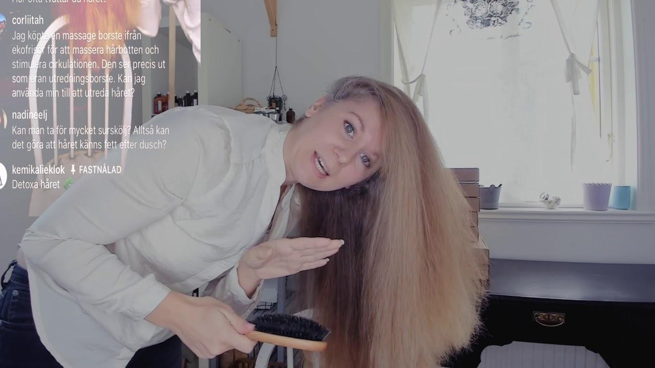 hur masserar man hårbotten