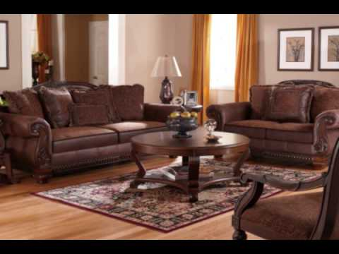 Bradington Truffle Living Room Set By Ashley Furniture Youtube