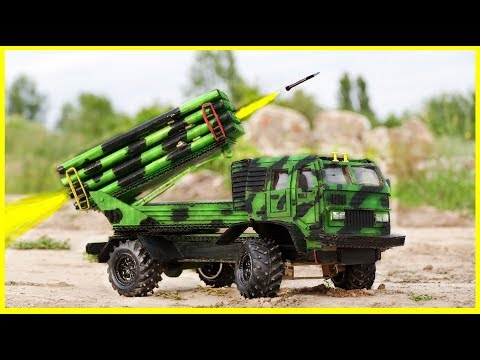 How To Make a Military Missile Launcher on a Truck of Cardboard - DIY Truck