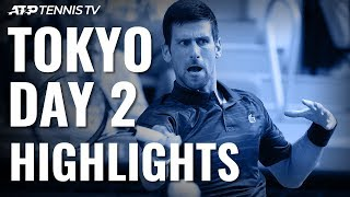 Djokovic Wins On Tokyo Debut; Daniel Upsets Coric | Tokyo 2019 Highlights Day 2