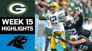 Packers vs. Panthers | NFL Week 15 Game Highlights