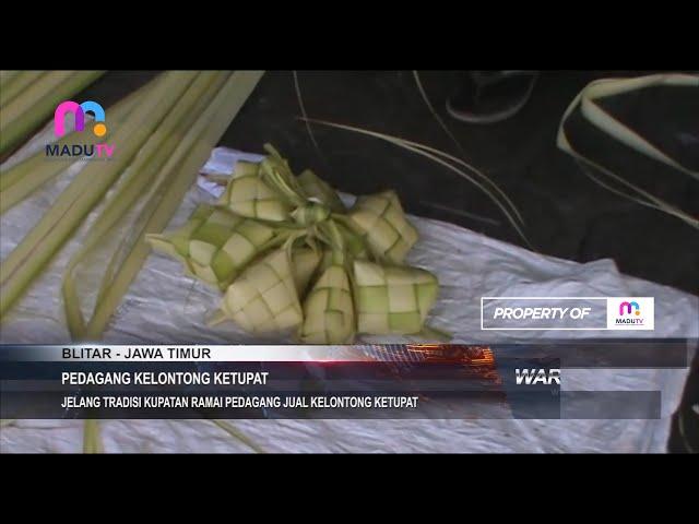 Blitar - Jelang Tradisi Kupatan Ramai Pedagang Jual Kelontong Ketupat