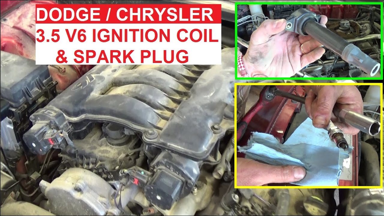 ignition coil and spark plug replacement on dodge charger 3 5 dodge magnum 3 5 chrysler 300 v6 3 5 [ 1280 x 720 Pixel ]