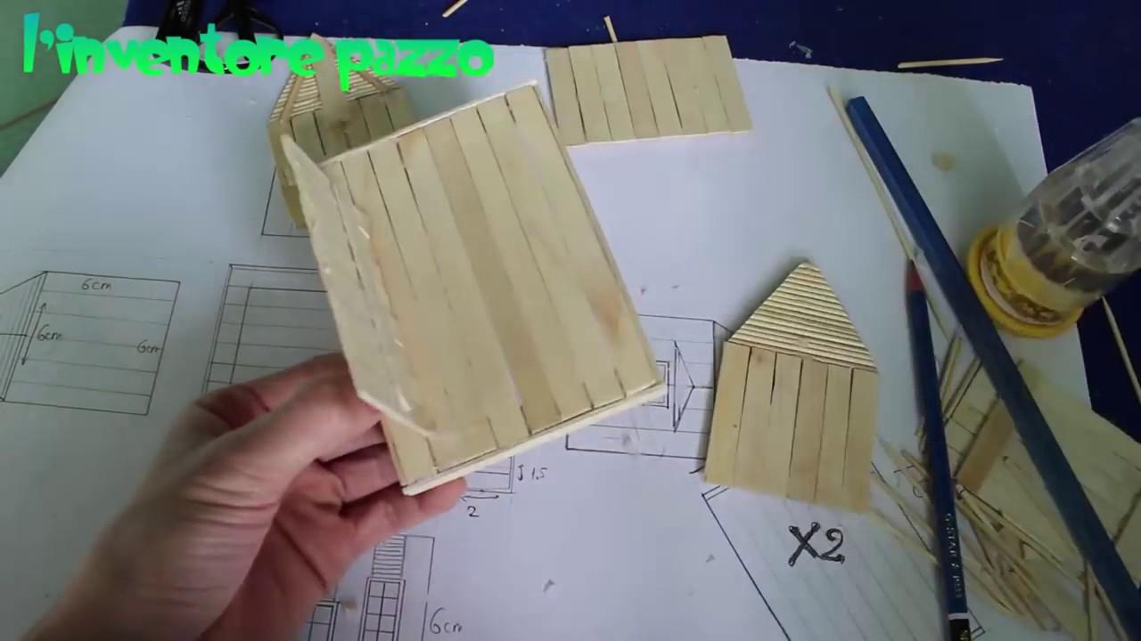 Presepe Con Bastoncini Di Legno : Costruire una casetta con gli stecchi dei ghiaccioli life hacks
