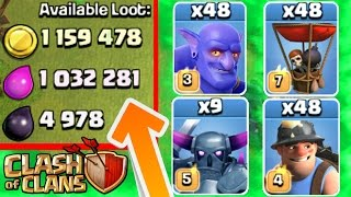 Clash Of Clans - 1 TROOP MASS CHALLENGE! - Epic CoC Challenge 2016!