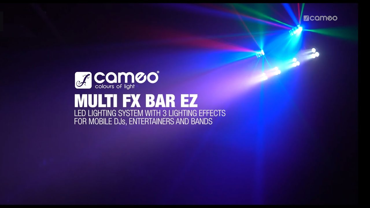 7fda5dd283 Cameo MULTI FX BAR EZ - LED Lighting System with 3 Lighting Effects ...