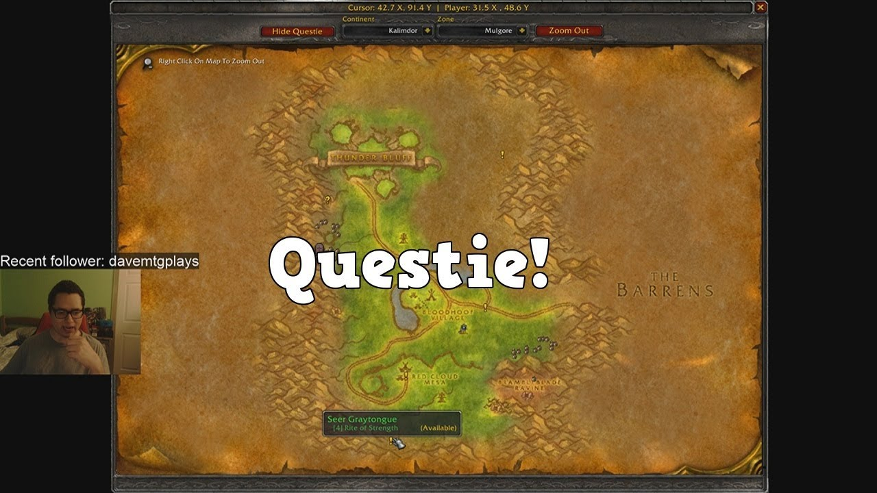 WoW Classic Addon review - Questie (Quest Objective/location tracker)