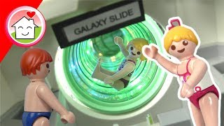 Playmobil Film deutsch - Lena im Space Slide Aquapark - Familie Hauser Spielzeug Kinderfilm