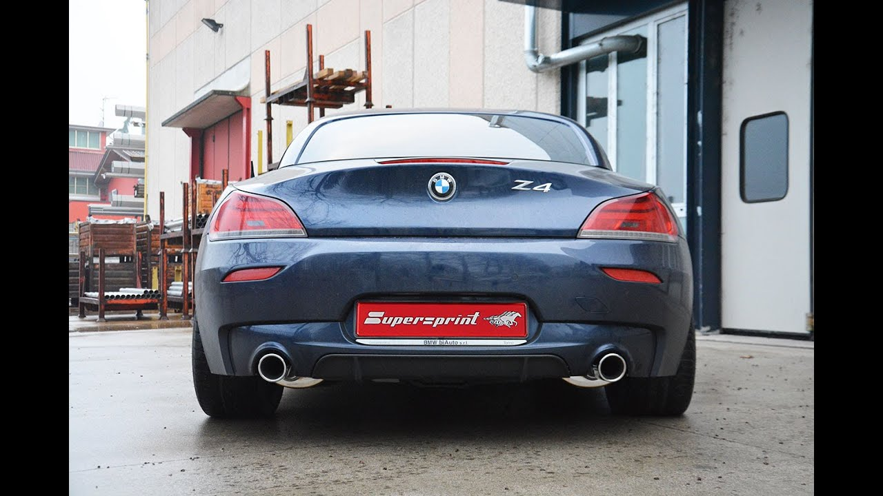 bmw z4 e89 35is sdrive sound with supersprint sport. Black Bedroom Furniture Sets. Home Design Ideas