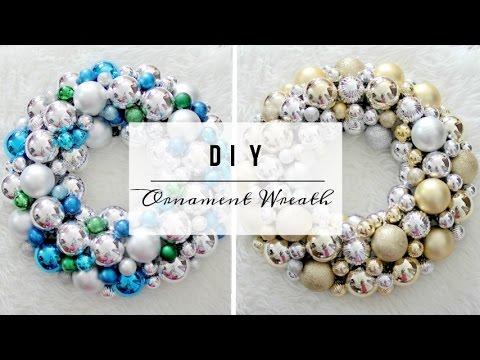 Diy Easy Ornament Wreath Hd Dollar Store Diy