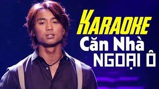 Karaoke - Căn Nhà Ngoại Ô - ĐAN NGUYÊN | Beat Chuẩn Tone Nam