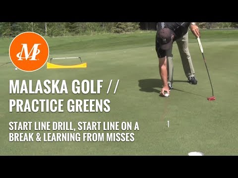 Malaska Golf // Putting: Practice Green Drills – Start Line, Break Line, Misses