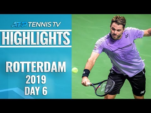 Wawrinka Edges Nishikori; Monfils into Final | Rotterdam 2019 Highlights Semi-Final