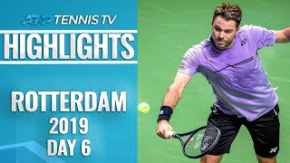 Wawrinka Edges Nishikori; Monfils into Final | Rotterdam 2019 Highlights Semi-Final