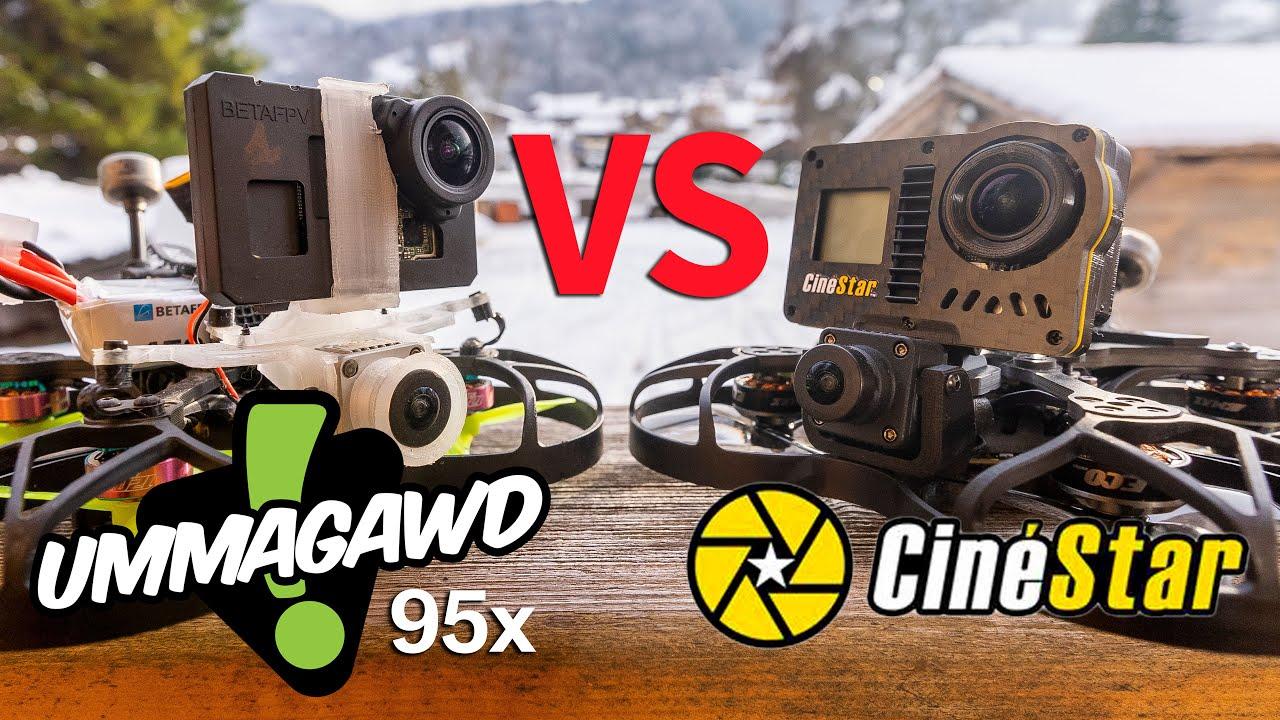 Download Cinestar (Aerial Vation)  vs.  Mavic vs.  Umma95   DJI FPV NAKED GOPRO TINYWHOOP COMPARISON