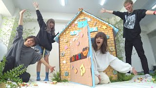 お菓子の家を作って食べてみた!!!【青春☆しゅわしゅわクラブ】