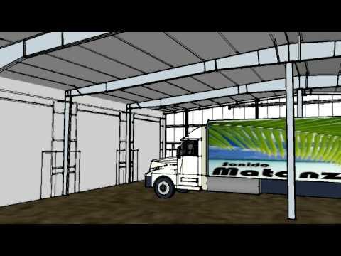 Heavy equipment repair shop 2 youtube for Truck repair shop floor plans