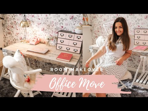 Home office/craft room makeover, reorganize and room tour