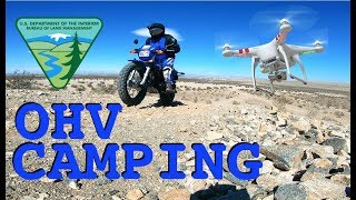 OHV Trails Camping, High Wind & Lost My Drone