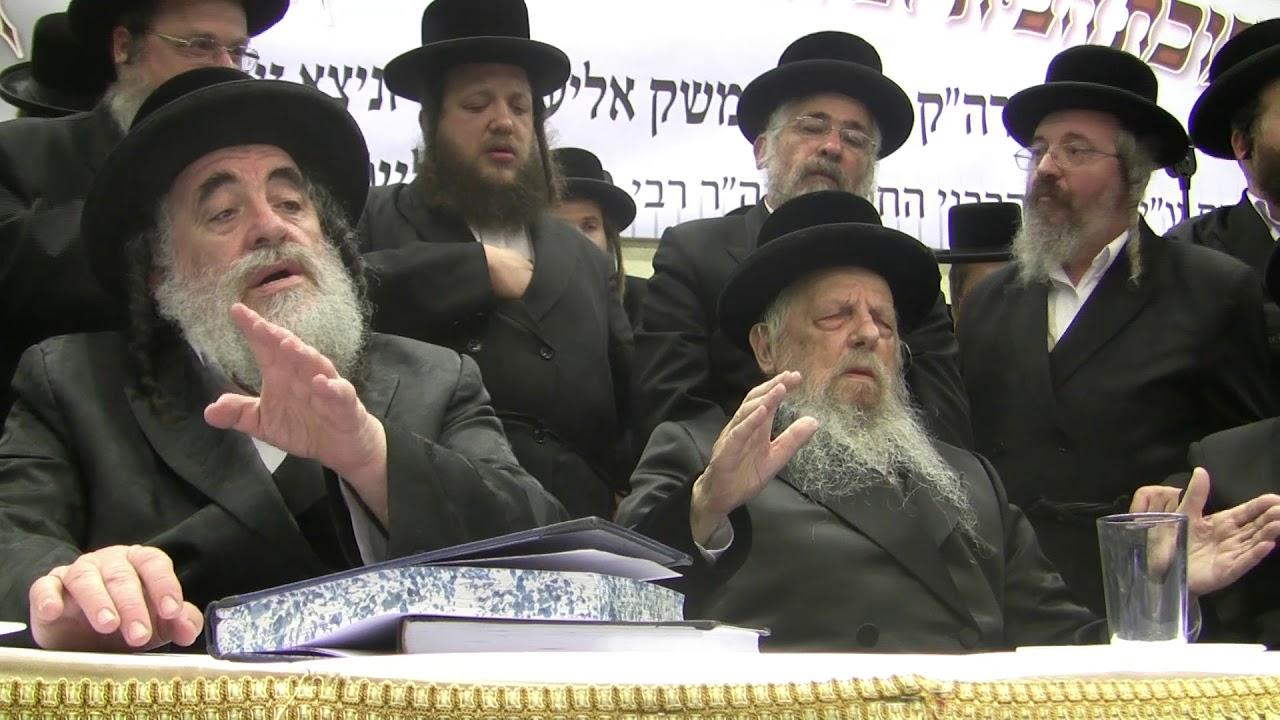 """אדמורי ויזניץ בשירת """"וכולם מקבלים עליהם"""" בחנוכת הבית לבית הכנסת ויזניץ בבית שמש"""