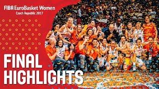 Spain v France - Хайлайты - Final - FIBA EuroBasket Women 2017