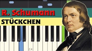 Stückchen (A little piece) - Robert Schumann [Piano Tutorial] (Synthesia)