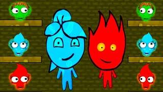 ПРИКЛЮЧЕНИЯ ОГОНЬ и ВОДА в храме Ужасов #3 Развлекательное видео для детей Игровой мультик