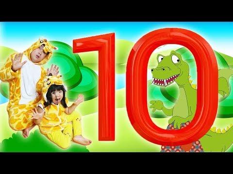 공룡으로 배우는 숫자 10 Little Dinosaur Song Learn Numbers