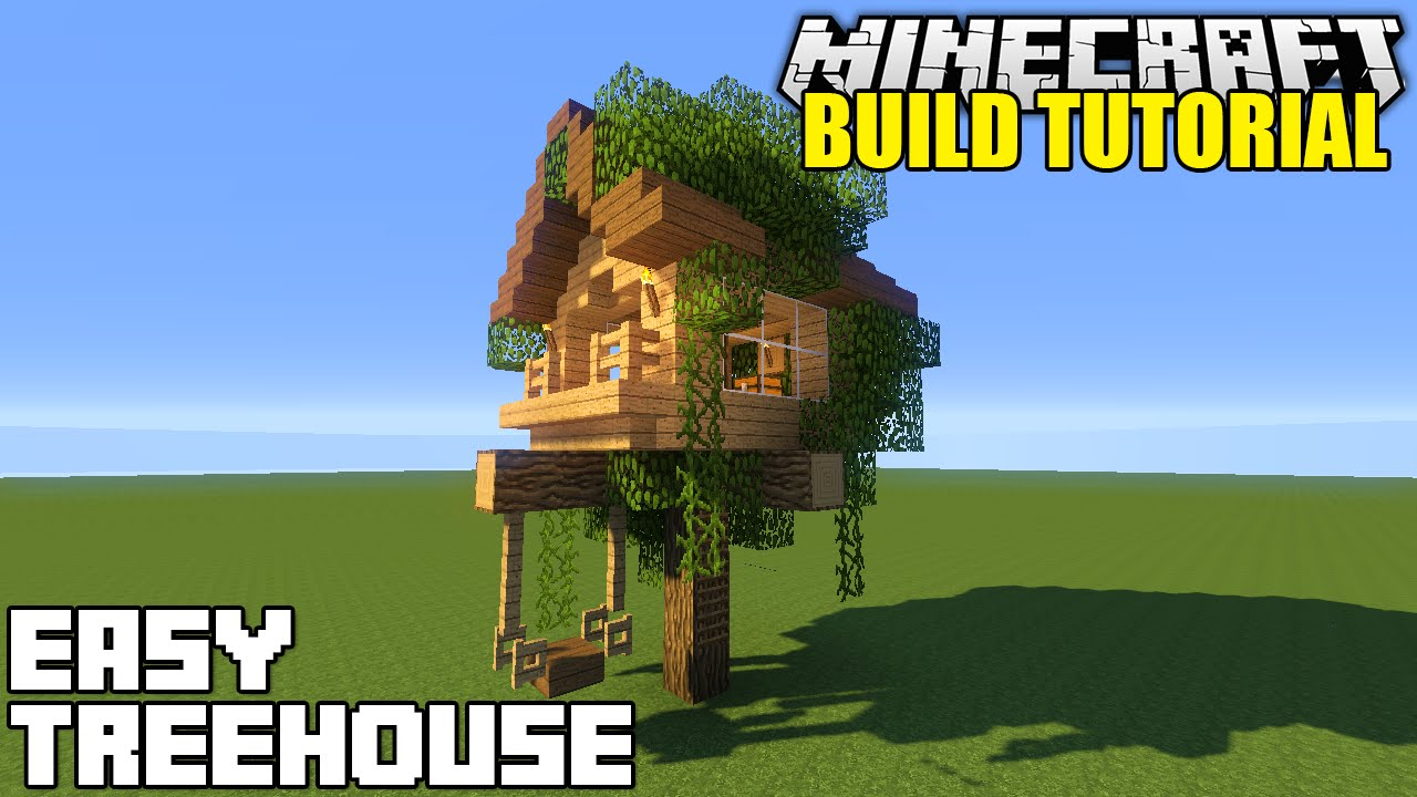 Minecraft How To Build A Treehouse Tutorial Simple
