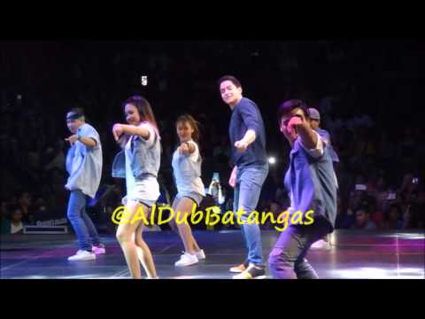 Alden Richards Live at Batangas City Coliseum - Twerk it like Miley