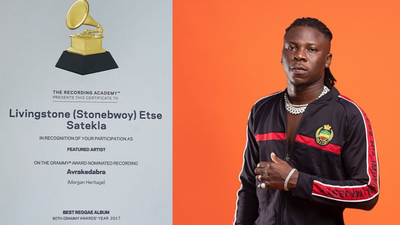 Stonebwoy receives his Grammy Awards Nomination Certificate for work with  Morgan Heritage - YouTube
