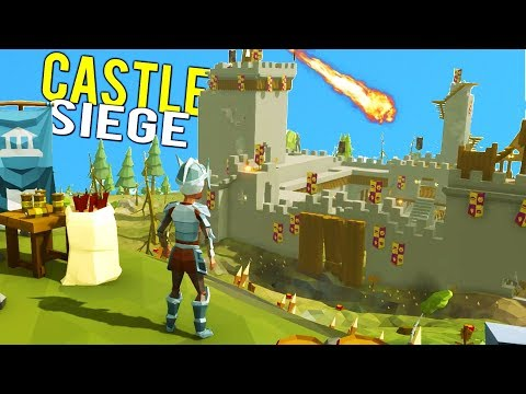 CASTLE DESTROYED BY EXPLOSIVE CATAPULTS DURING SIEGE - Ylands Early Access Multiplayer Gameplay