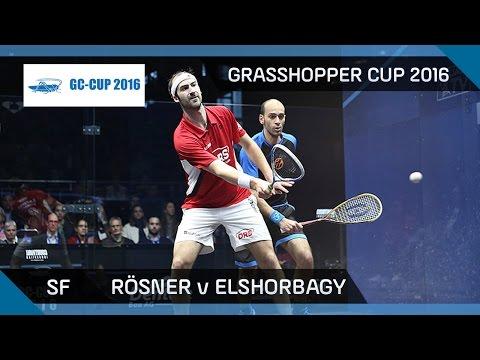 Squash: Rösner v Mar. Elshorbagy - Grasshopper Cup 2016 - SF Highlights