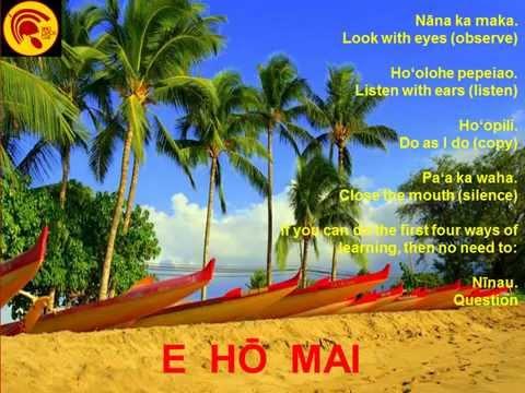Learn the E Ho Mai Chant from  Native Hawaiian Cultural Practitioner Vene Chun