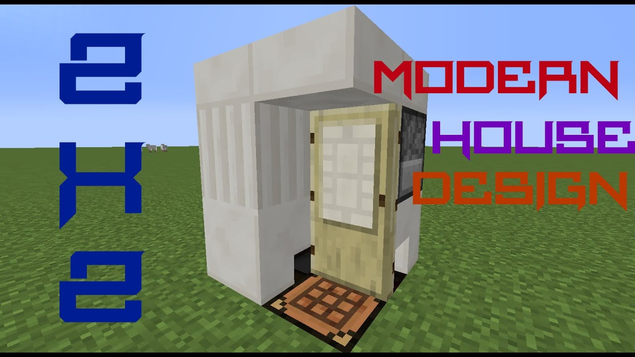 How to make a 2x2 modern house in minecraft for Modern house fortnite