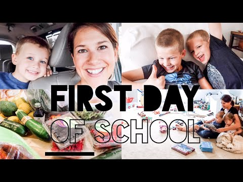 FIRST DAY OF SCHOOL~ DID THEY LIKE SCHOOL? GROCERY SHOPPING, PLAYTIME, PRAYING VLOG 2019