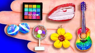 27+ EASY DIY MINIATURE FOOD AND CRAFTS FOR BARBIE DOLLHOUSE