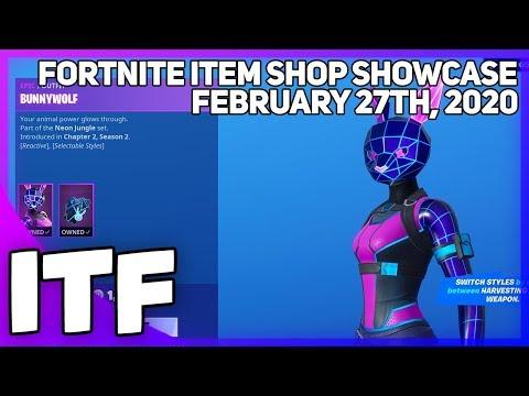 Fortnite Item Shop *NEW* NEON JUNGLE SET! [February 27th, 2020] (Fortnite Battle Royale)