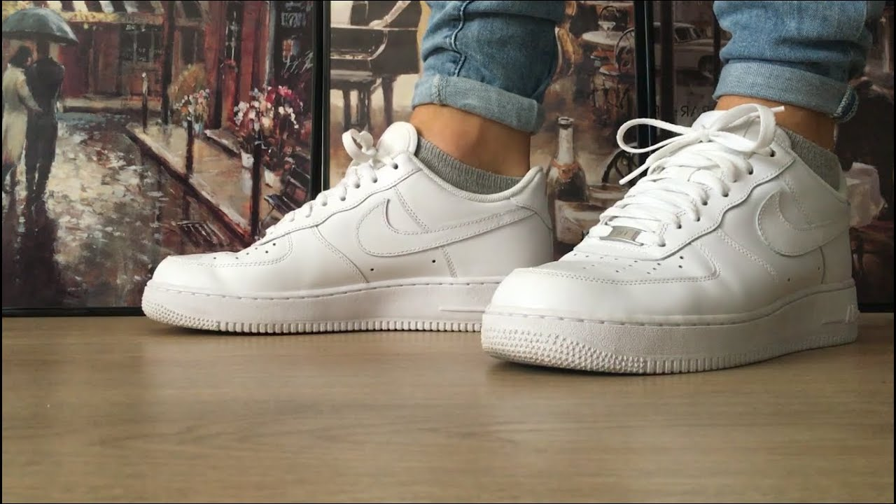 How To Cuff Roll Your Jeans Pants Nike Air Force 1 Youtube