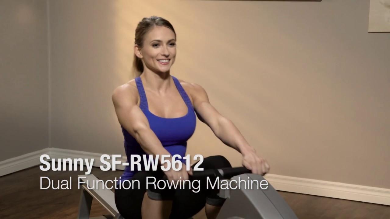 Sunny Health & Fitness SF-RW5612 Dual Function Rowing Machine