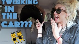 TWERKING WHILE DRIVING?!