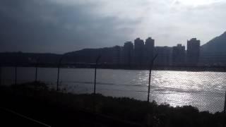 Taiwan - MRT Ride near Tamsui River