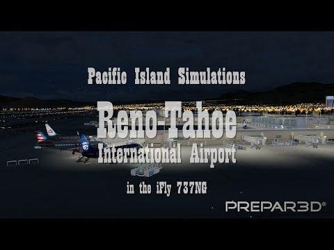 Reno-Tahoe International Airport (KRNO) from Pacific Island Simulations (Prepar3D V4)