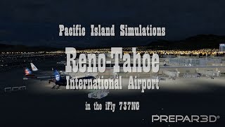 Reno-Tahoe International Airport (KRNO) from Pacific Island Simulations (Prepar3D V4)
